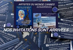 Invitation, Exposition Artistes du Monde a Cannes, Günther Reil - Erotic Paintings