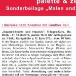 Malreise nach Kroatien mit Günther Reil