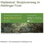 Kunstprojekt im Altöttinger Forst