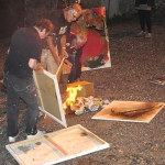 Flaming the paintings