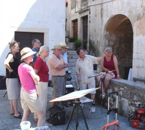"Painting course in Kroatia, June 2013, Part 1: ""Romantic sunny ways"". Some situations and impressions for you. Next year we do it again, because this first course of aquarell pleine air, was a fine adventure in sito art."