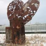 Skulptur Stahlherz