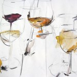 Gläser abstrahiert