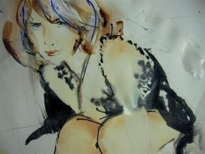 """""""Schönheitspunkt"""" Acrylgemälde (2012)"""