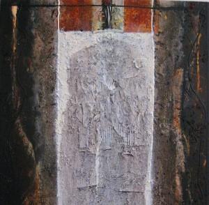 """Gemälde """"Menhir"""" (Krumau, 2008)"""