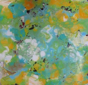 "Informelles Gemälde, Titel ""Enigma"" (2012)"