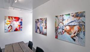 """Günther Reil """"Sinnlichkeiten""""  Foto: Galerie Versen"""